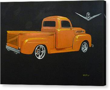 1952 Ford Pickup Custom Canvas Print