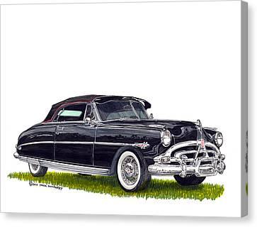 1952 Hudson Hornet Convertible Canvas Print by Jack Pumphrey