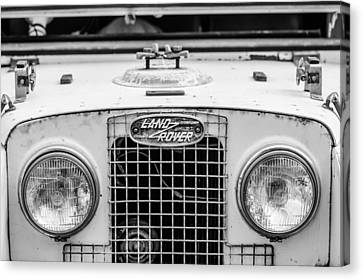1952 Land Rover 80 Grille -0988bw Canvas Print