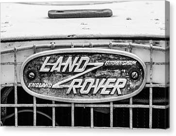 1952 Land Rover 80 Grille Emblem -0988bw2 Canvas Print by Jill Reger