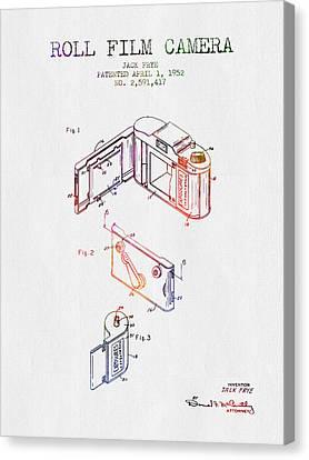 1952 Roll Film Camera Patent - Color Canvas Print