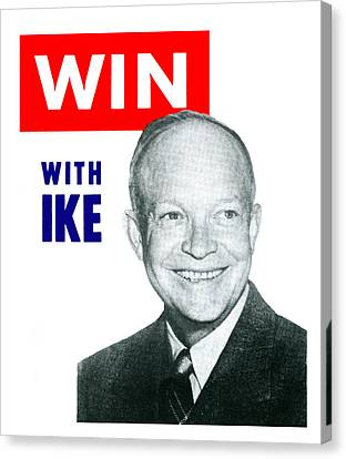1952 Win With Ike Canvas Print by Historic Image