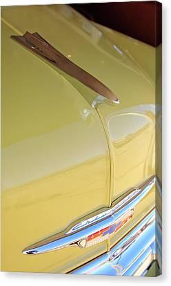 1953 Chevrolet Bel Air Hood Ornament Canvas Print by Jill Reger