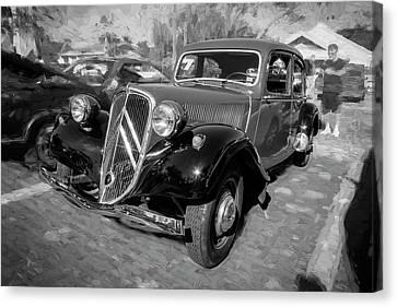 1953 Citroen Traction Avant Bw Canvas Print by Rich Franco