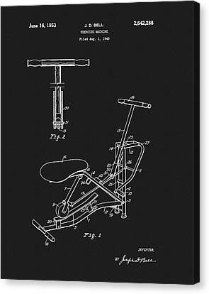 Nike Canvas Print - 1953 Exercise Apparatus Patent by Dan Sproul