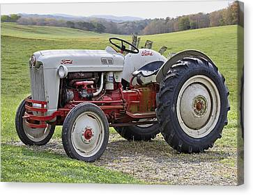 Antique Tractors Canvas Print - 1953 Ford Golden Jubilee Naa by Debra and Dave Vanderlaan