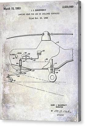 1953 Helicopter Patent Canvas Print by Jon Neidert