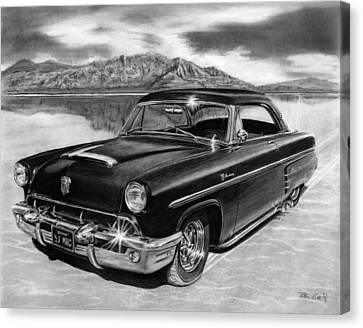 1953 Mercury Monterey On Bonneville Canvas Print by Peter Piatt