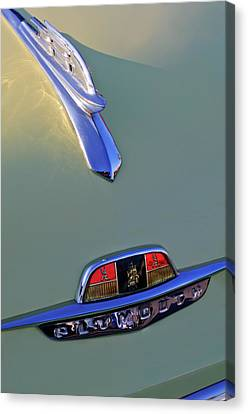 1953 Plymouth Hood Ornament Canvas Print by Jill Reger