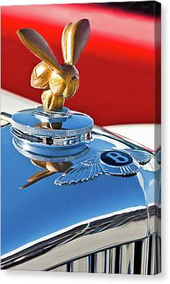 1954 Bentley One Of A Kind Hood Ornament Canvas Print by Jill Reger