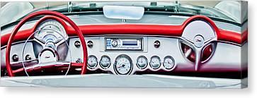 1954 Chevrolet Corvette Dashboard Canvas Print by Jill Reger