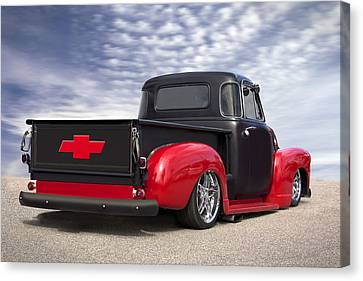 1954 Chevy Truck Lowrider Canvas Print by Mike McGlothlen