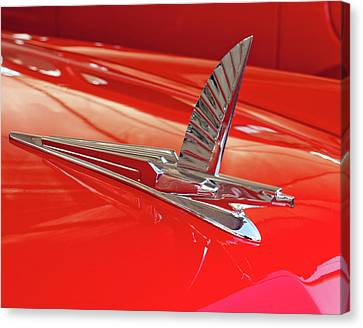 1954 Ford Cresline Sunliner Hood Ornament 2 Canvas Print by Jill Reger