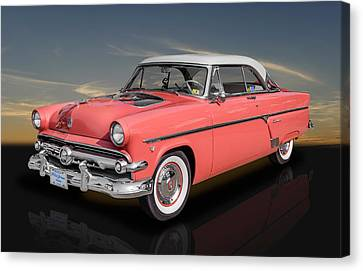 1954 Ford Crestline V8 With See-through Hood Canvas Print by Frank J Benz