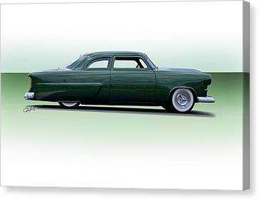 1954 Ford Customline Coupe Canvas Print by Dave Koontz