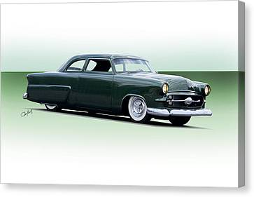 1954 Ford Customline Coupe I Canvas Print by Dave Koontz