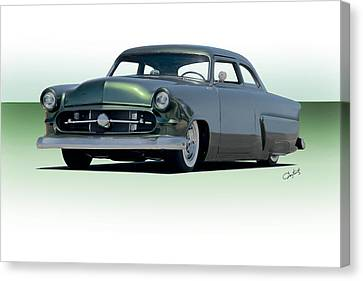 1954 Ford Customline Coupe II Canvas Print by Dave Koontz