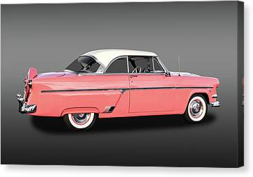 1954 Ford Victoria Crestline V8  -  1954fordvicfa9358 Canvas Print by Frank J Benz