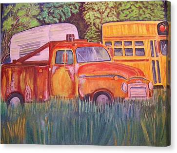 1954 Gmc Wrecker Truck Canvas Print by Belinda Lawson