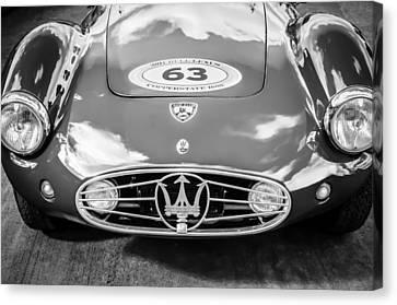 1954 Canvas Print - 1954 Maserati A6 Gcs -0255bw by Jill Reger