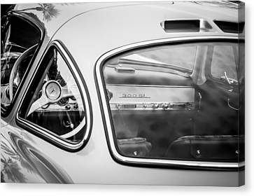 1954 Mercedes-benz 300sl Gullwing Steering Wheel -0142bw Canvas Print