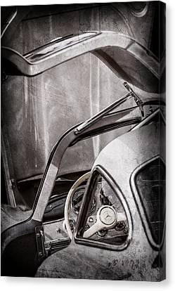 1954 Mercedes-benz 300sl Gullwing Steering Wheel -1653ac Canvas Print by Jill Reger