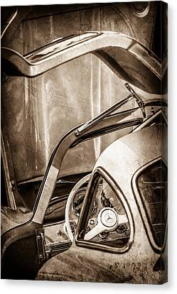 1954 Mercedes-benz 300sl Gullwing Steering Wheel -1653s Canvas Print