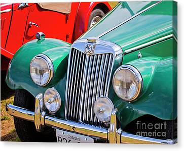 Canvas Print featuring the photograph 1954 Mg Tf Sports Car by Chris Dutton