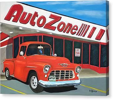 1955 Chevy - Autozone Canvas Print