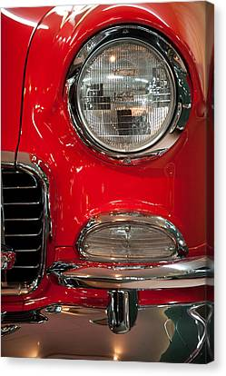 1955 Chevy Bel Air Headlight Canvas Print by Sebastian Musial