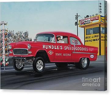 Racing Canvas Print - 1955 Chevy Gasser by Paul Kuras