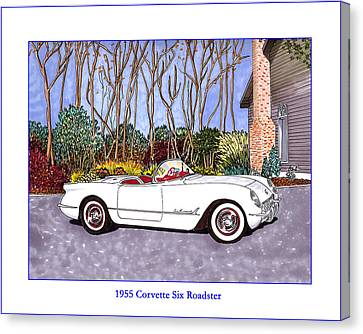 1955 Corvette Six Roadster Canvas Print