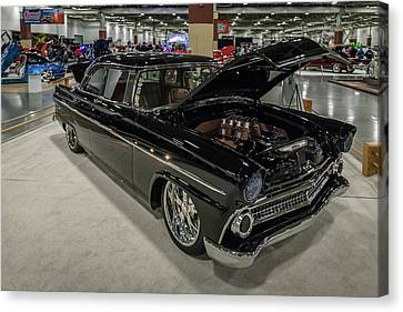 Canvas Print featuring the photograph 1955 Ford Customline by Randy Scherkenbach