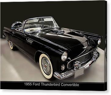 1955 Ford Thunderbird Convertible Canvas Print