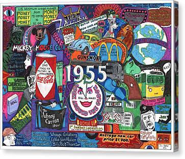 1955 In Review Canvas Print by David Sutter