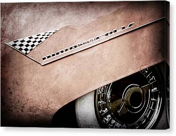 1955 Lincoln Indianapolis Boano Coupe Emblem -0295ac Canvas Print