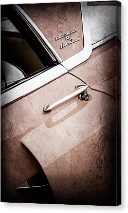 1955 Lincoln Indianapolis Boano Coupe Side Emblem -0355ac Canvas Print