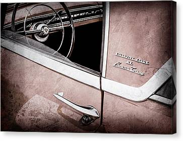 1955 Lincoln Indianapolis Boano Coupe Side Emblem - Steering Wheel -0358ac Canvas Print