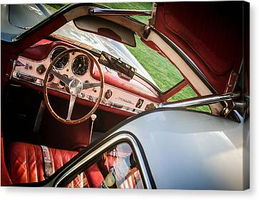 1955 Mercedes-benz 300sl Gullwing Steering Wheel - Race Car -0329c Canvas Print