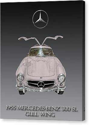 1955 Mercedes Benz Gull Wing 300 S L  Canvas Print
