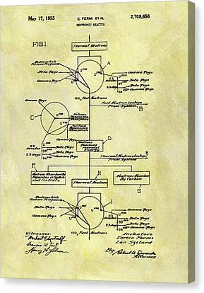 1955 Neutronic Reactor Patent Canvas Print by Dan Sproul