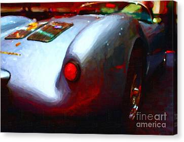 1955 Porsche 550 Rs Spyder . Painterly Style Canvas Print by Wingsdomain Art and Photography