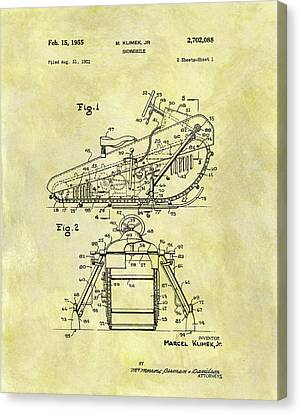 1955 Snowmobile Patent Canvas Print by Dan Sproul