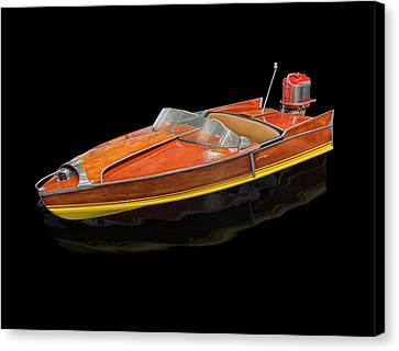1956 Aristocraft Sea Flash Runabout Canvas Print by Gary Warnimont