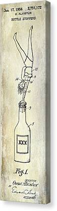 1956 Bottle Stopper Patent Canvas Print by Jon Neidert