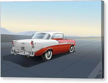1956 Chevrolet Bel Air Canvas Print by Marty Garland