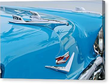 1956 Chevrolet Belair Nomad Hood Ornament Canvas Print by Jill Reger