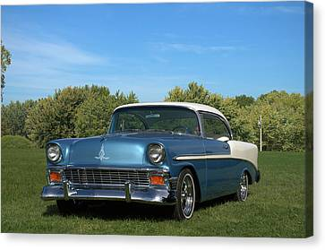 Canvas Print featuring the photograph 1956 Chevrolet Belair by Tim McCullough