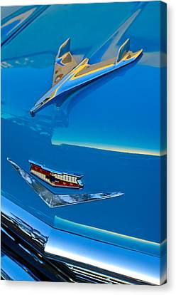 Mascots Canvas Print - 1956 Chevrolet Hood Ornament 4 by Jill Reger