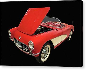 1956 Chevy Corvette Digital Oil Canvas Print